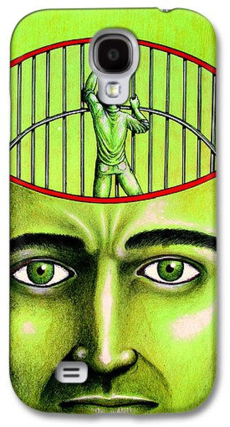 Inner Self Galaxy S4 Cases - Jailer Of The Your Own Prison Galaxy S4 Case by Paulo Zerbato