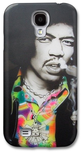 Jimi Hendrix Galaxy S4 Cases - Jam Back at the House Galaxy S4 Case by Christian Chapman Art