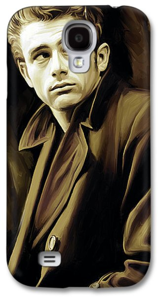 Celebrities Mixed Media Galaxy S4 Cases - James Dean Artwork Galaxy S4 Case by Sheraz A