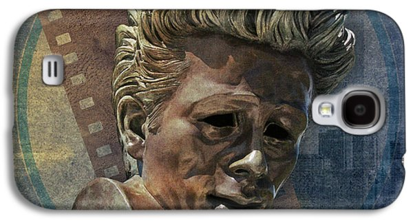 Statue Portrait Galaxy S4 Cases - James Dean Galaxy S4 Case by Bedros Awak