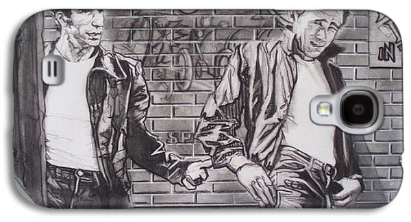 Pole Drawings Galaxy S4 Cases - James Dean Meets The Fonz Galaxy S4 Case by Sean Connolly