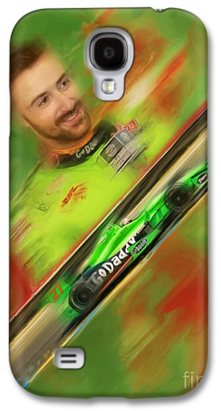 James Hinchcliffe Galaxy S4 Cases - James Hinchcliffe Galaxy S4 Case by Blake Richards