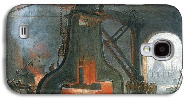 Hammer Paintings Galaxy S4 Cases - James Nasmyths steam hammer Galaxy S4 Case by James Nasmyth
