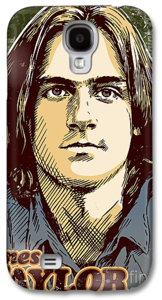 70s Galaxy S4 Cases - James Taylor Pop Art Galaxy S4 Case by Jim Zahniser