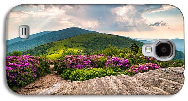 North Carolina Blue Ridge Mountains Landscape Jane Bald Appalachian Trail Galaxy S4 Case by Dave Allen