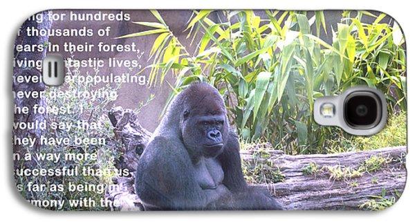 Gorilla Digital Galaxy S4 Cases - Jane Goodall Gorilla Galaxy S4 Case by Barbara Snyder
