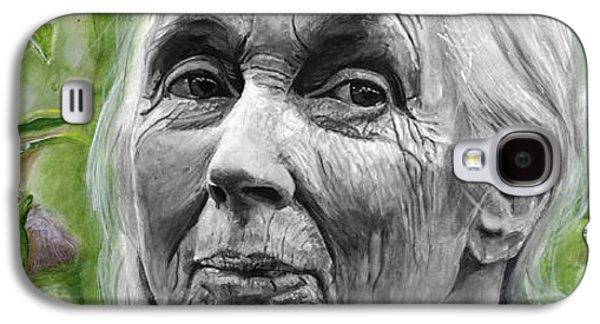 Jane Goodall Galaxy S4 Case by Simon Kregar
