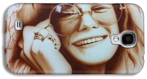 Janis Joplin - ' Janis ' Galaxy S4 Case by Christian Chapman Art