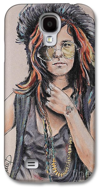 Blue Pastels Galaxy S4 Cases - Janis Joplin Galaxy S4 Case by Melanie D
