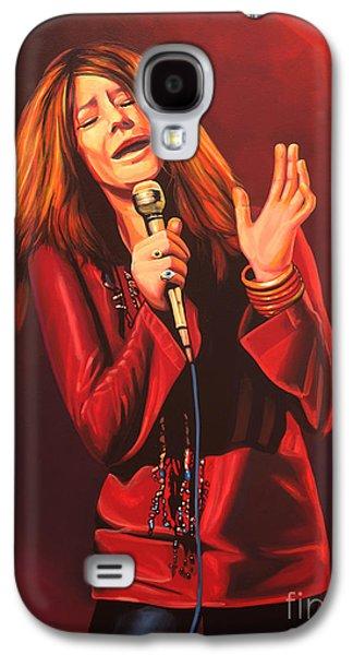 Piano Paintings Galaxy S4 Cases - Janis Joplin Galaxy S4 Case by Paul  Meijering