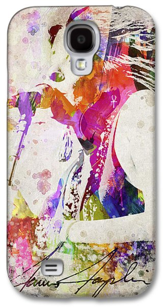 Autographed Galaxy S4 Cases - Janis Joplin Portrait Galaxy S4 Case by Aged Pixel
