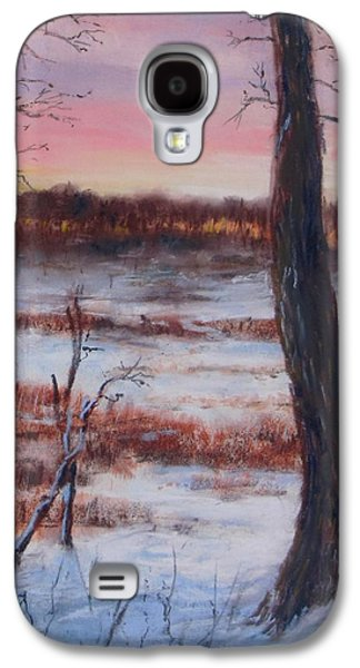Winter Scene Pastels Galaxy S4 Cases - January Sunrise Galaxy S4 Case by Jack Skinner