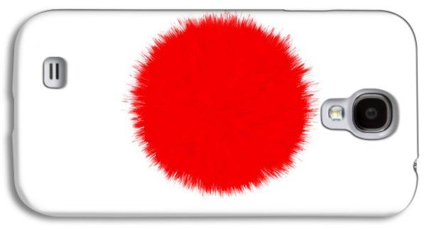 Kobe Digital Galaxy S4 Cases - Japan Flag Galaxy S4 Case by Daniel Hagerman
