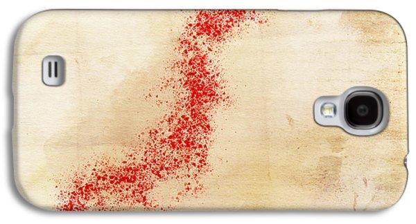 Kobe Digital Galaxy S4 Cases - Japan Watercolor Map Galaxy S4 Case by Daniel Hagerman