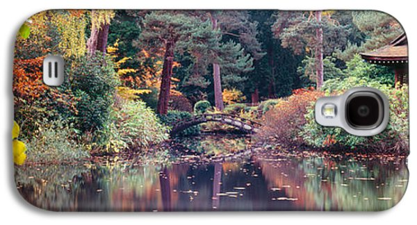 Garden Scene Galaxy S4 Cases - Japanese Garden In Autumn, Tatton Park Galaxy S4 Case by Panoramic Images