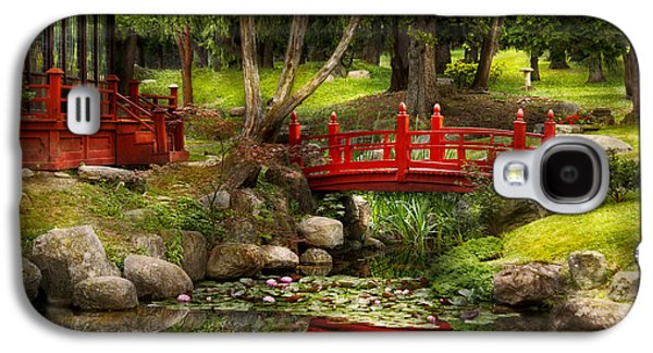 Garden Scene Photographs Galaxy S4 Cases - Japanese Garden - Meditation Galaxy S4 Case by Mike Savad