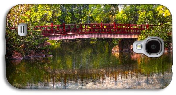 China Beach Galaxy S4 Cases - Japanese Gardens Bridge Galaxy S4 Case by Debra and Dave Vanderlaan