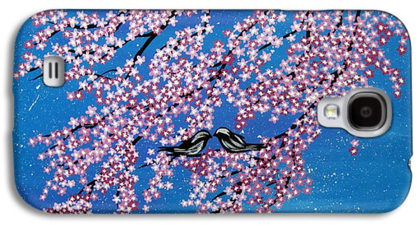 Catherine White Paintings Galaxy S4 Cases - Japanese Joy Galaxy S4 Case by Cathy Jacobs