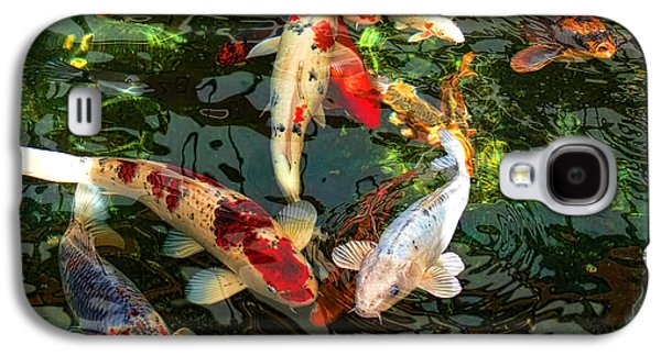 Fish Pond Galaxy S4 Cases - Japanese Koi Fish Pond Galaxy S4 Case by Jennie Marie Schell