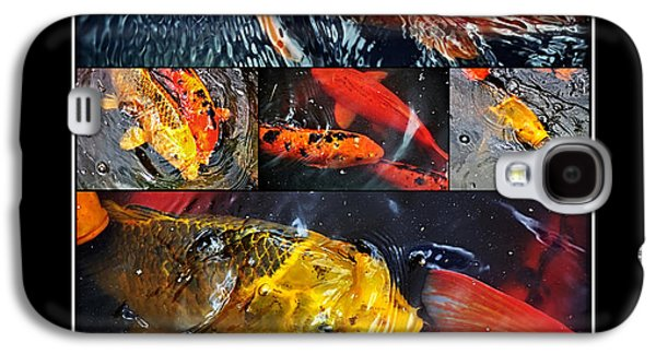 Decorative Fish Galaxy S4 Cases - Japanese Koi Galaxy S4 Case by Kaye Menner