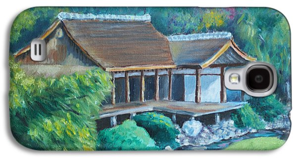 Phillies Paintings Galaxy S4 Cases - Japanese Tea House Galaxy S4 Case by Joseph Levine