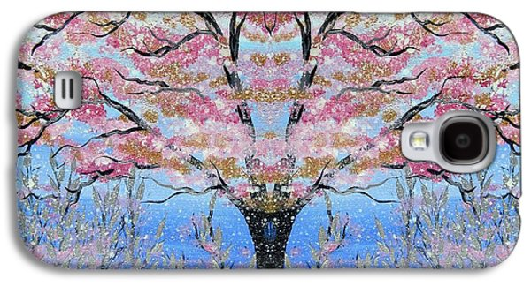 Cherry Blossoms Galaxy S4 Cases - Japanese Tree of Life Galaxy S4 Case by Cathy Jacobs