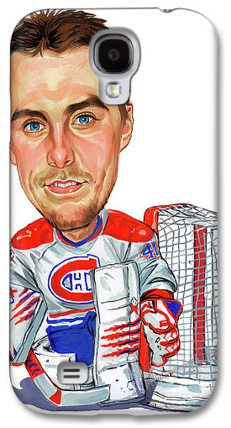 Canadiens Paintings Galaxy S4 Cases - Jaroslav Halak Galaxy S4 Case by Art