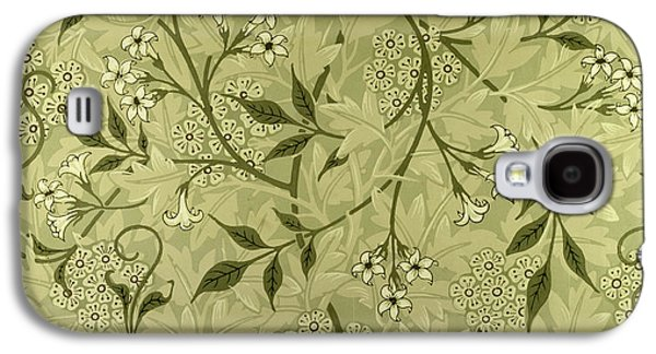 Floral Tapestries - Textiles Galaxy S4 Cases - Jasmine wallpaper design Galaxy S4 Case by William Morris