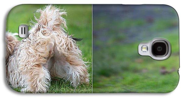 Dog Running. Galaxy S4 Cases - Jax Galaxy S4 Case by Rebecca Cozart