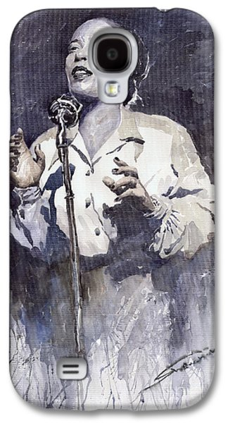 Holiday Paintings Galaxy S4 Cases - Jazz Billie Holiday Lady Sings The Blues Galaxy S4 Case by Yuriy  Shevchuk