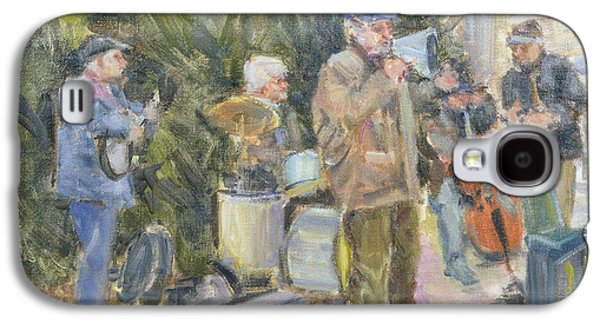 Celebrities Photographs Galaxy S4 Cases - Jazz Buskers, Prague Oil On Canvas Galaxy S4 Case by Miranda Legard