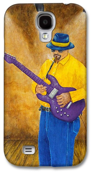 African-american Mixed Media Galaxy S4 Cases - Jazz Guitar Man Galaxy S4 Case by Pamela Allegretto