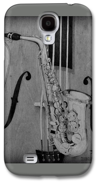 Americans Pyrography Galaxy S4 Cases - Jazz is the Color Galaxy S4 Case by Laurisa Borlovan