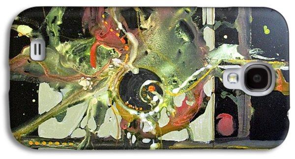 Curvilinear Paintings Galaxy S4 Cases - Jazz Rhythms Galaxy S4 Case by Patricia Mayhew Hamm