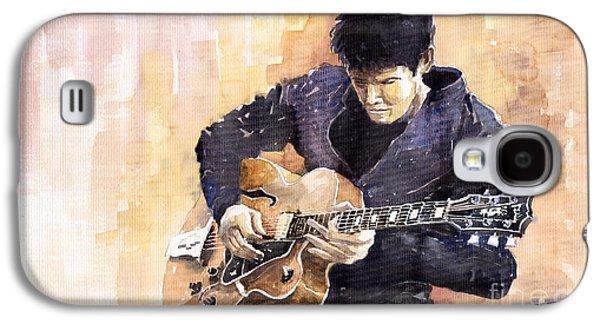 Instrument Galaxy S4 Cases - Jazz Rock John Mayer 02 Galaxy S4 Case by Yuriy  Shevchuk