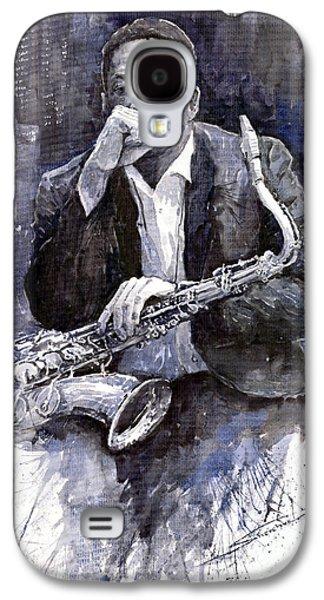 Jazz Saxophonist John Coltrane Black Galaxy S4 Case by Yuriy  Shevchuk