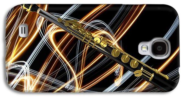 Soprano Galaxy S4 Cases - Jazz Soprano Sax Galaxy S4 Case by Louis Ferreira