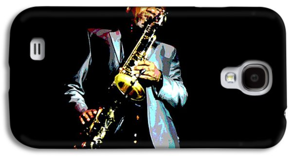 African-american Galaxy S4 Cases - Jazzman Galaxy S4 Case by Deena Stoddard
