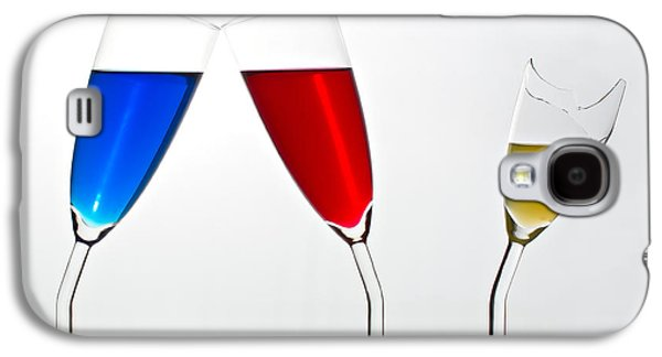 Champagne Glasses Galaxy S4 Cases - Jealousy Galaxy S4 Case by Gert Lavsen