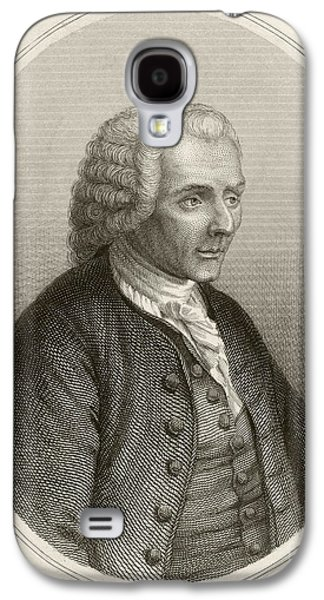 Rights Of Man Galaxy S4 Cases - Jean Jacques Rousseau, French Philosopher Galaxy S4 Case by British Library