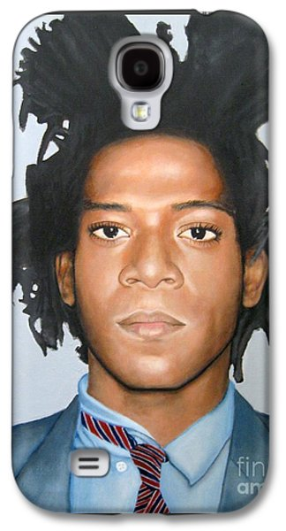 Painter Photo Mixed Media Galaxy S4 Cases - Jean-Michel Basquiat Galaxy S4 Case by Venus