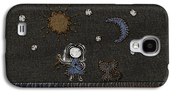 Abstract Digital Galaxy S4 Cases - Jeans Stitches Galaxy S4 Case by Gianfranco Weiss