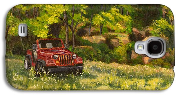 Janet Felts Galaxy S4 Cases - Jeep by the Bluff Galaxy S4 Case by Janet Felts