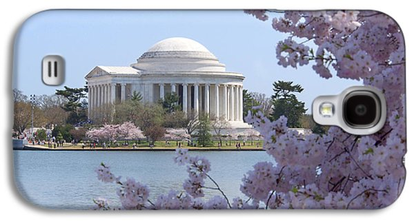 Jefferson Memorial - Cherry Blossoms Galaxy S4 Case by Mike McGlothlen