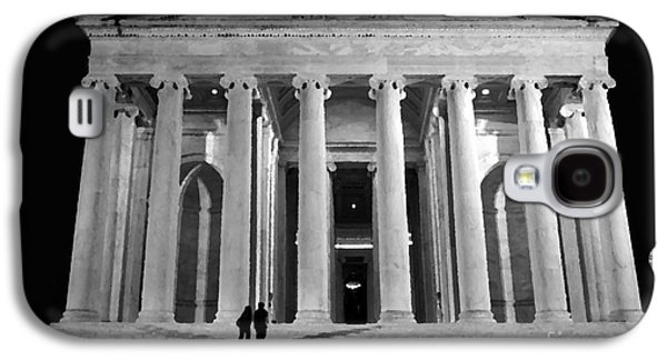 Us Capital Mixed Media Galaxy S4 Cases - Jefferson Monument at Night Galaxy S4 Case by Lane Erickson
