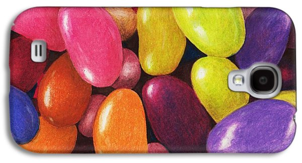 Interior Still Life Drawings Galaxy S4 Cases - Jelly Beans Galaxy S4 Case by Anastasiya Malakhova