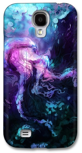 Abstract Digital Art Galaxy S4 Cases - Jellyfish Galaxy S4 Case by Barry Sachs