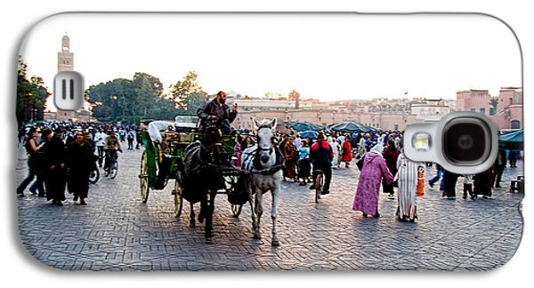 Horse Images Galaxy S4 Cases - Jemaa el Fna square in Marrakesh. Morroco Galaxy S4 Case by David Smith