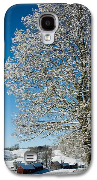 Winter Storm Photographs Galaxy S4 Cases - Jenne Farm Winter in Vermont Galaxy S4 Case by Edward Fielding