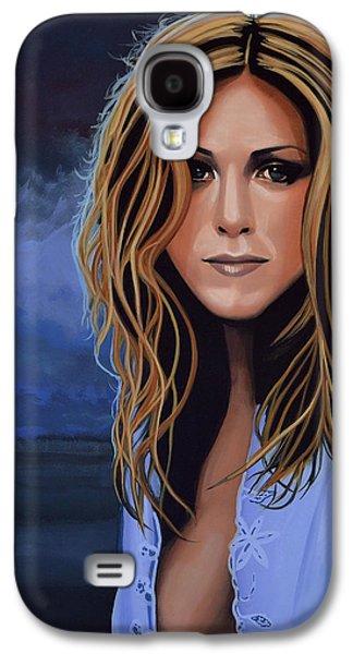 Jennifer Aniston Painting Galaxy S4 Case by Paul Meijering